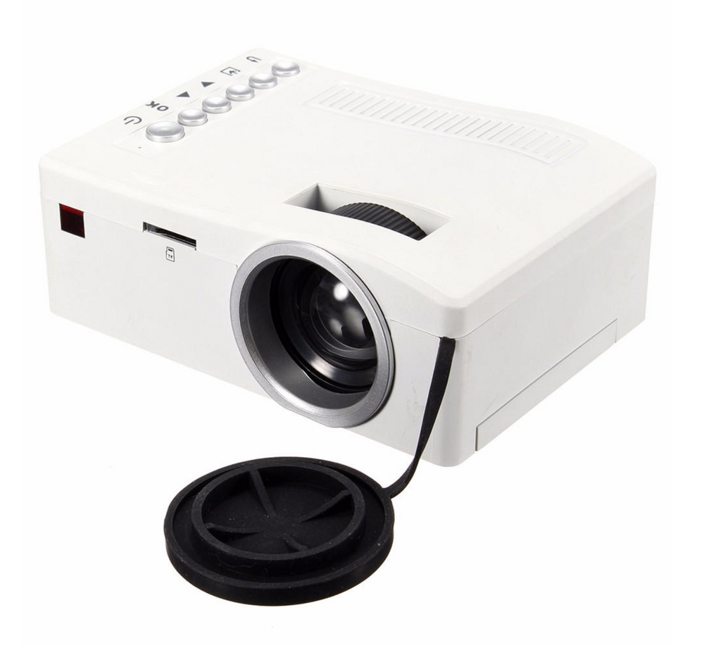 iProject™ Mini Multimedia LED Projector Home Theater Cinema HD 1080P 3D