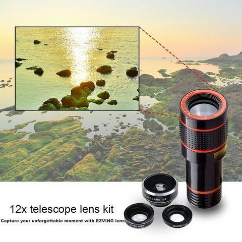 ThinkZoom™ 12x HD Zoom Lens for iPhone and Android - CartUp.com