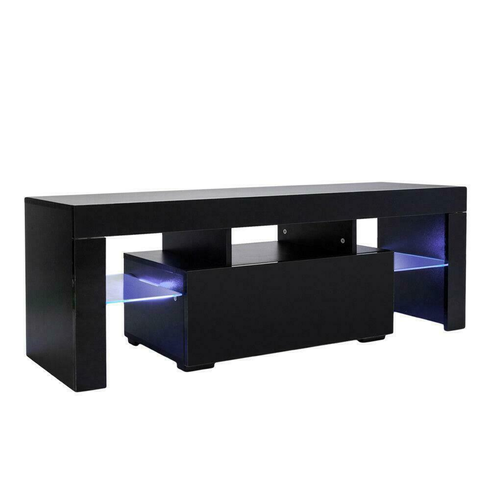 High Gloss TV Unit Cabinet Stand with LED Lights