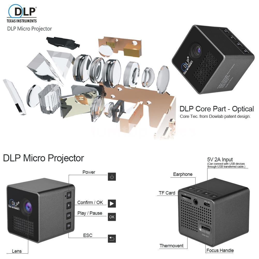 HD Portable Mini DLP Projector - CartUp.com