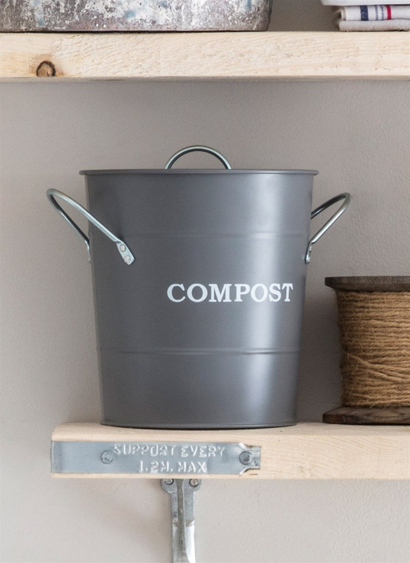 Compost Bucket in Charcoal - Steel