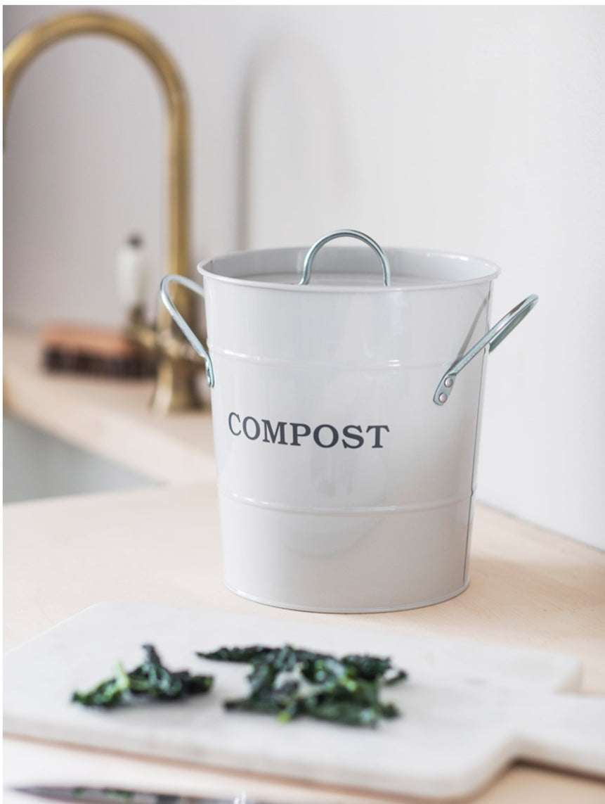 Compost Bucket in Chalk
