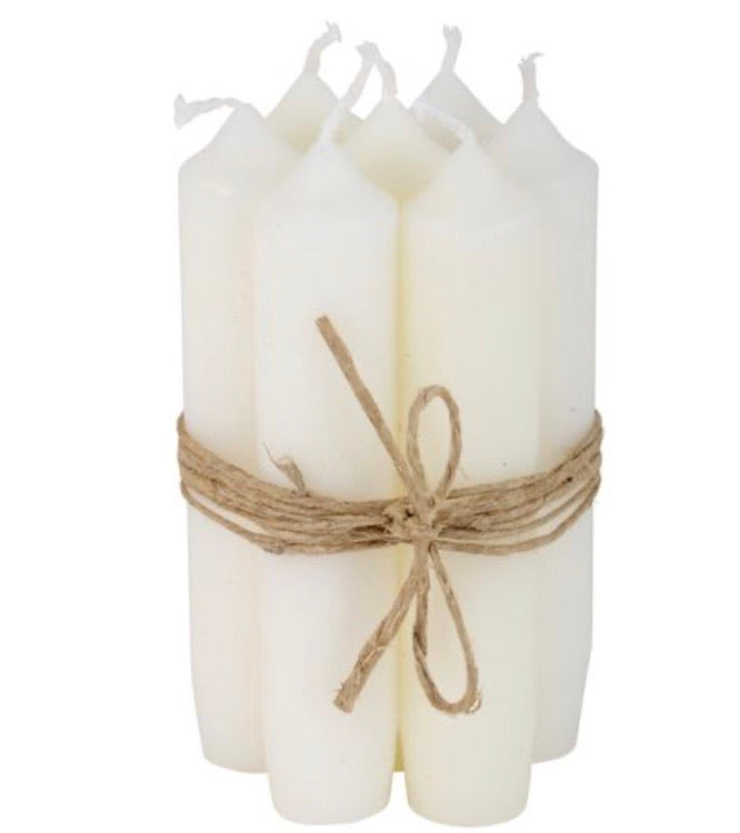 Dinner Candle Bundle -  Cream (short)