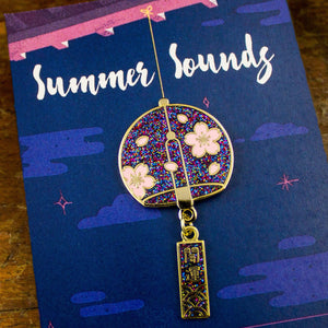 Summer Sounds // NIGHT // Enamel Pin with Charm