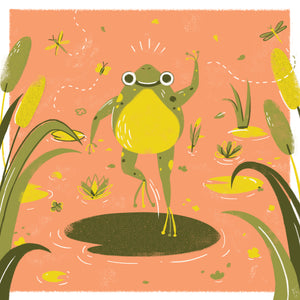 Leap Frog 8x8 Giclee Print