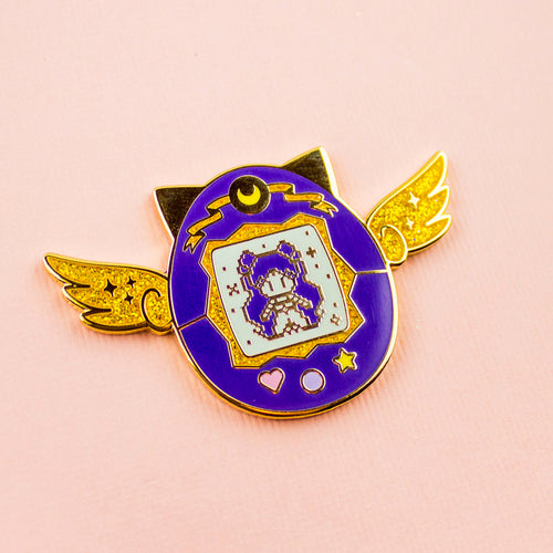 Luna Human Pet Enamel Pin