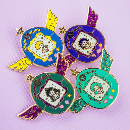 Outer Senshi Pets Enamel Pin Set