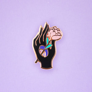Rose Palms Enamel Pin