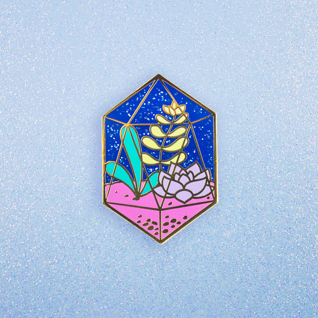 Diamond Terrarium Enamel Pin