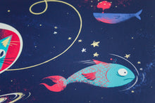 The Adventures of Space Cat 12x12 Giclee Print