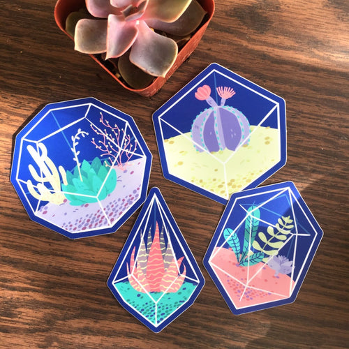 Space Succulents Vinyl Sticker Pack