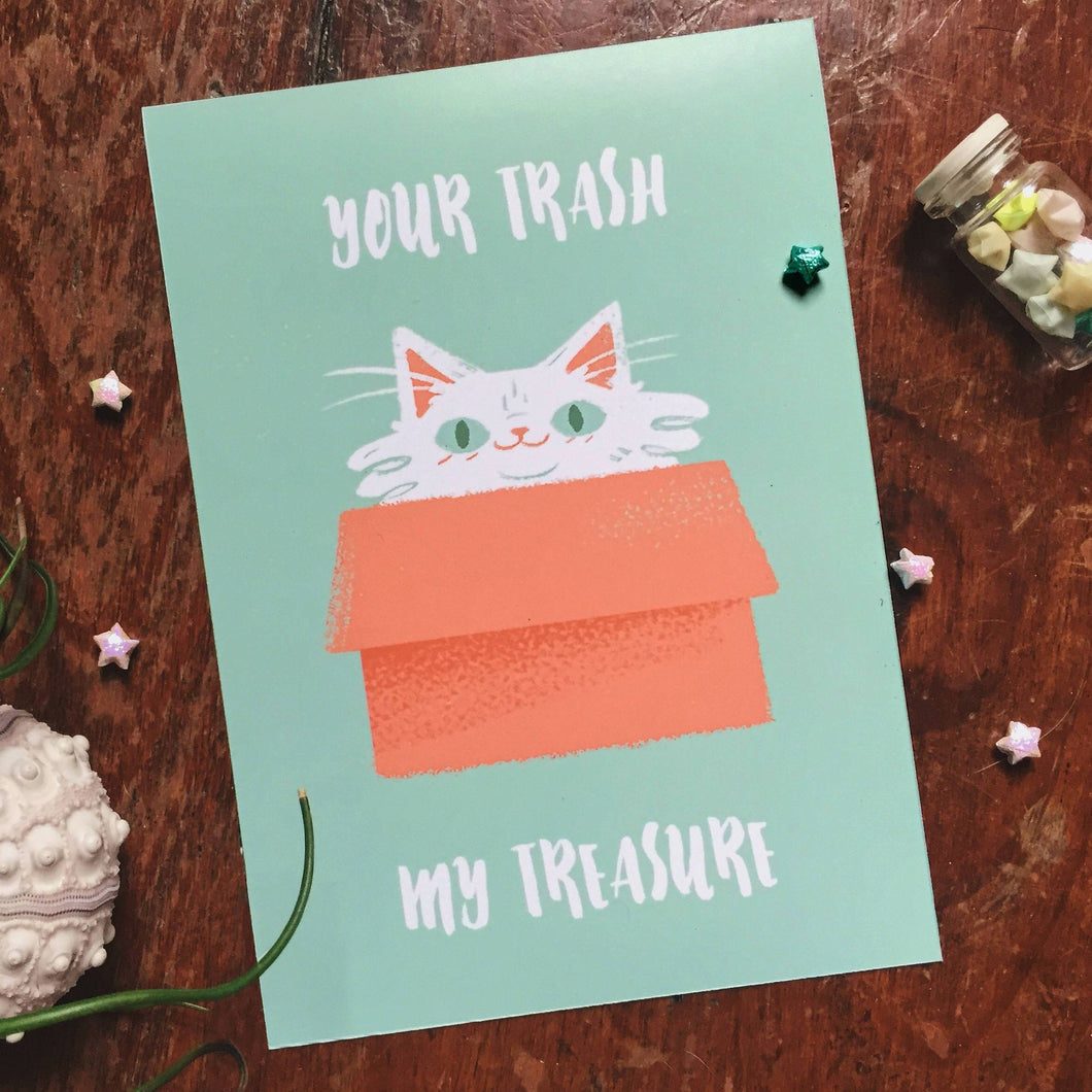 Your Trash My Treasure 5x7 Giclee Print