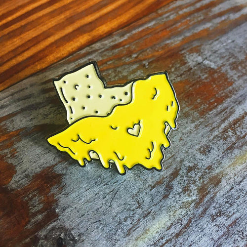 Deep in the Heart of Queso Enamel Pin