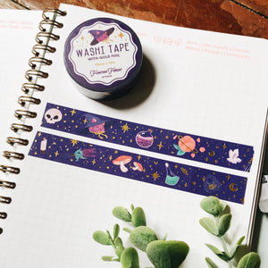 Witchy Things Washi Tape with Gold Foil