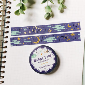 Moon Magic Washi Tape with Gold Foil