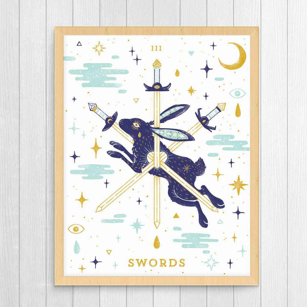 III of Swords 11x14 Giclee Print
