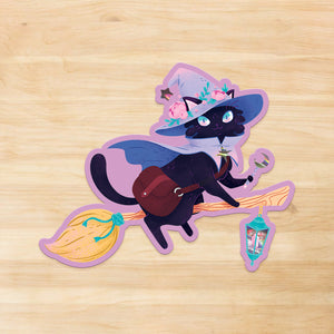 Stella the Witch Holographic Vinyl Sticker