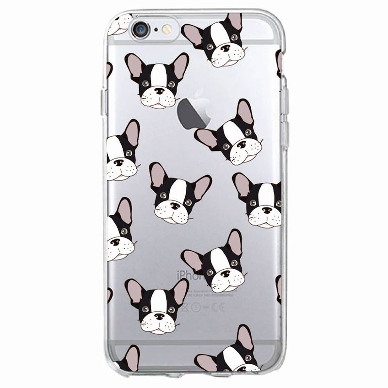 Cute Puppy Case For iPhone7Plus 6 6S 6Plus 8 8plus X Samsung