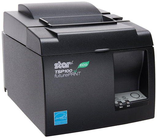 STAR MICRONICS, TSP143IIIU THERMAL RECEIPT PRINTER, TSP100III, CUTTER, USB, LIGHTNING, GRAY, USB CABLE, 39472310