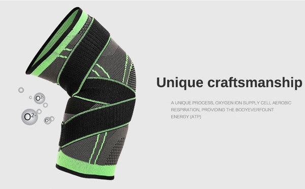 f3fe521708 Pressurized Fitness Running Cycling Bandage Knee Support Braces