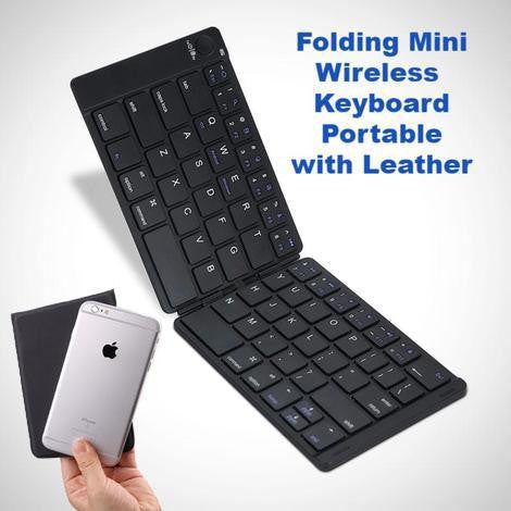 Portable Bluetooth Wireless Folding Mini Keyboard for iOS,Android  Tablet,iPad,Phone