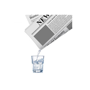 1Pc Drink Water Newspaper Close-Up Newspapers Hidden Water Magic Tricks Props Classic Toys Funny - Click On