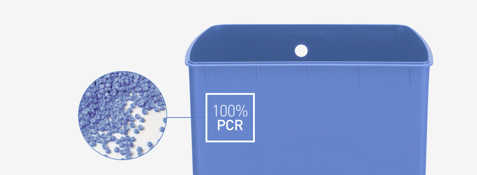 100% post-consumer recycled plastic