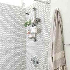 adjustable shower caddy - lifestyle side-view image