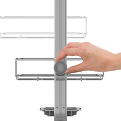 adjustable shower caddy - quick-adjust dial close-up image
