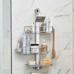 adjustable shower caddy plus - lifestyle white wall image