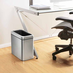 25L slim open can - brushed finish - lifestyle office next to desk