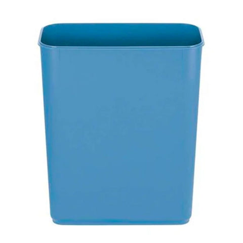 45L blue plastic trash bucket