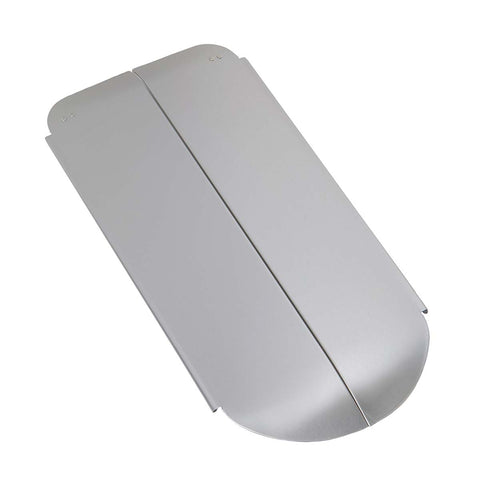 lid, brushed stainless steel