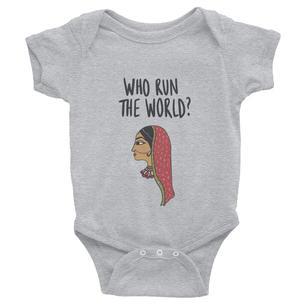 WHO RUN THE WORLD ONESIE