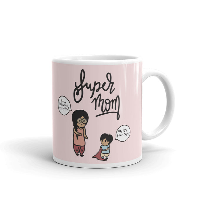 SUPER MOM (SON) MUG