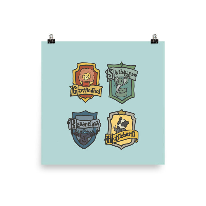 HOUSE FLAGS POSTER