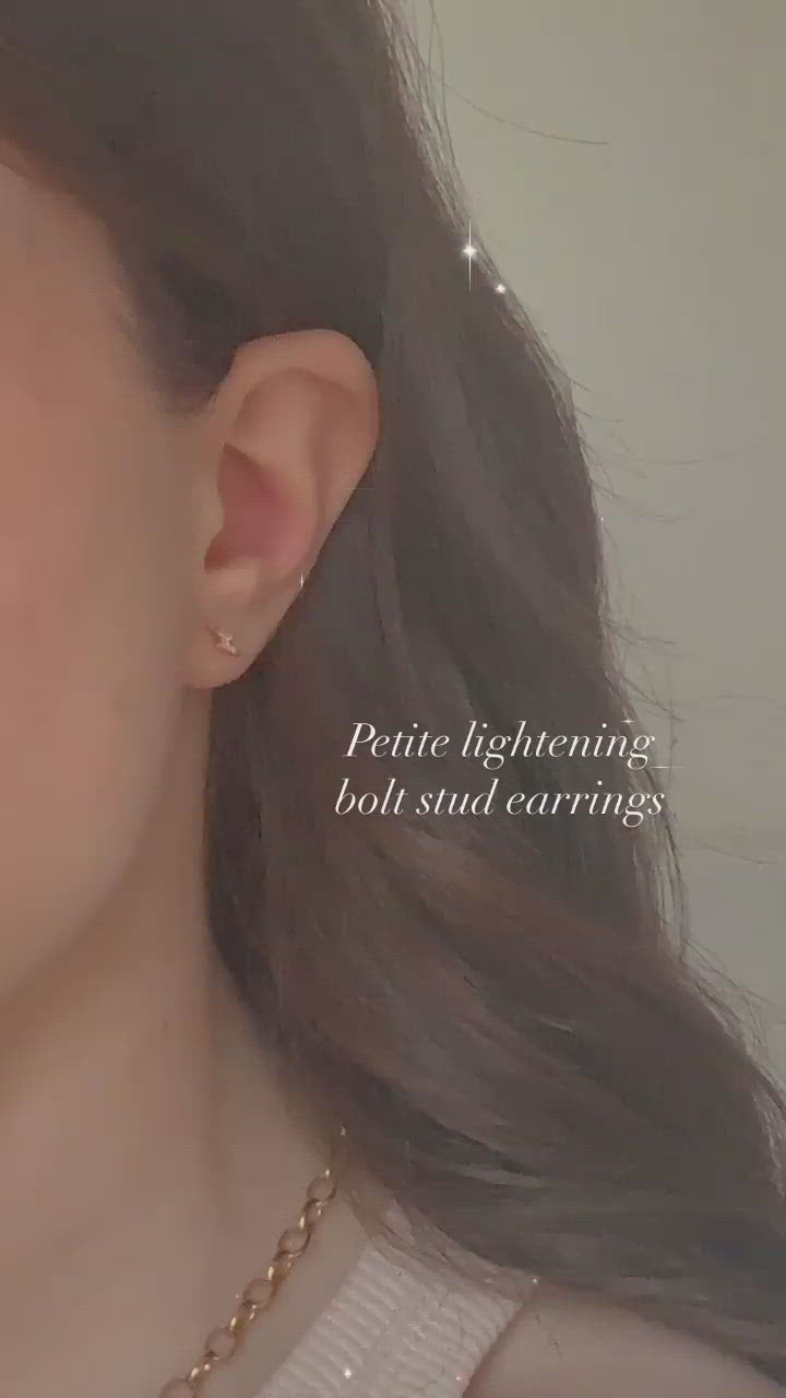 Tiny Lightening Bolt Studs
