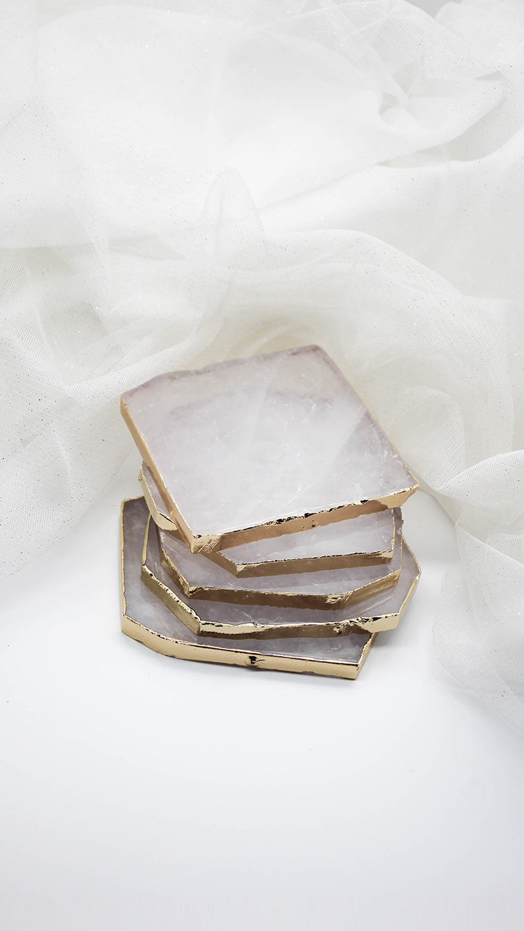 Clear Quartz - Jewelry Coaster (Single Coaster) - In stock