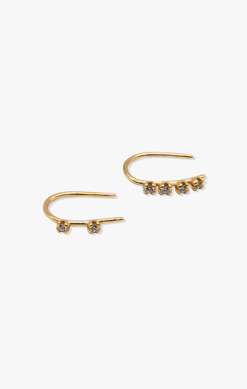 Mismatch CZ Hook Earrings