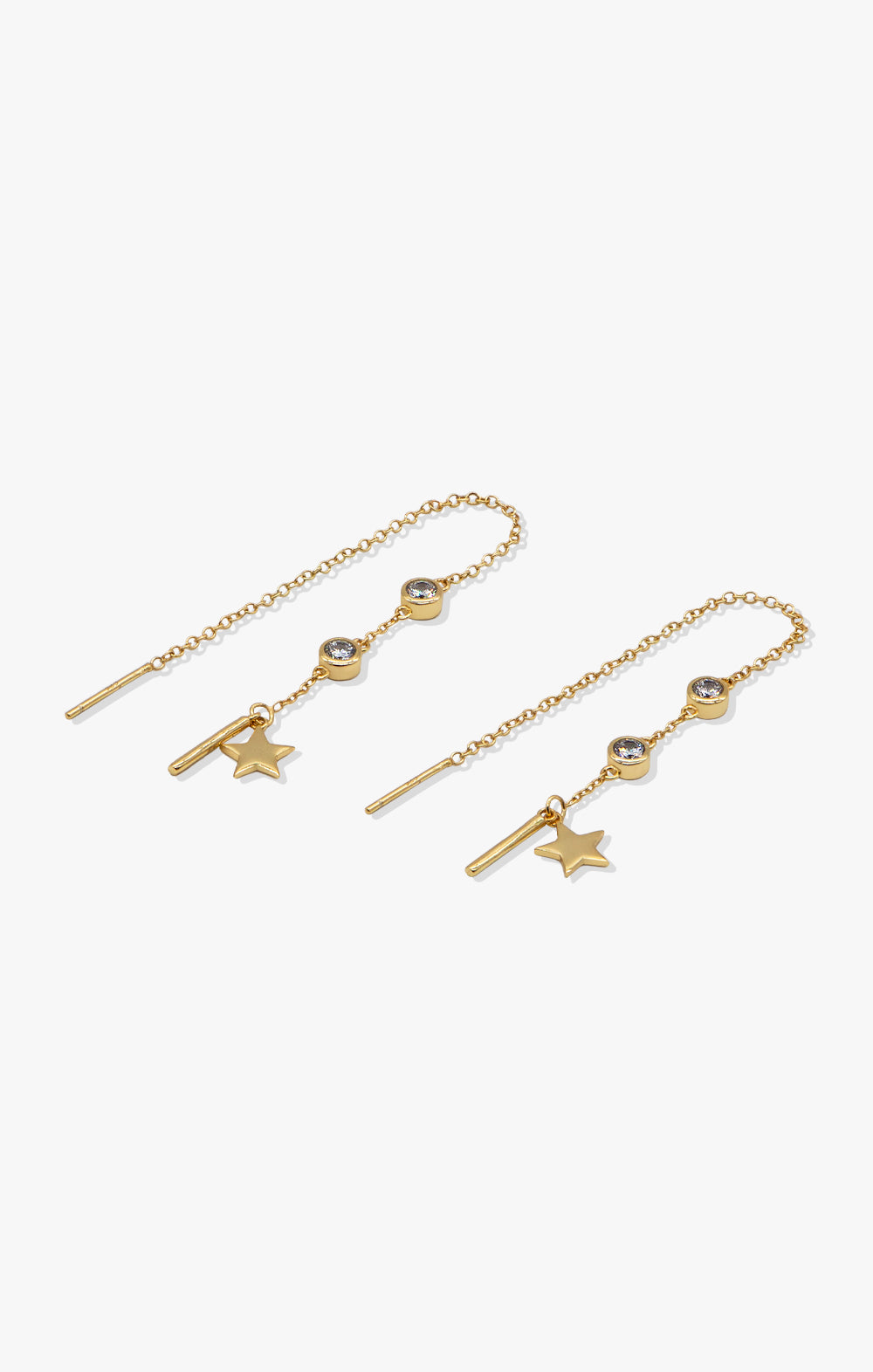 Star Struck Ear Threader | 18k Gold Vermeil