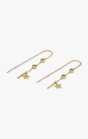 Two's a party Hook Earrings | 18k Gold Vermeil