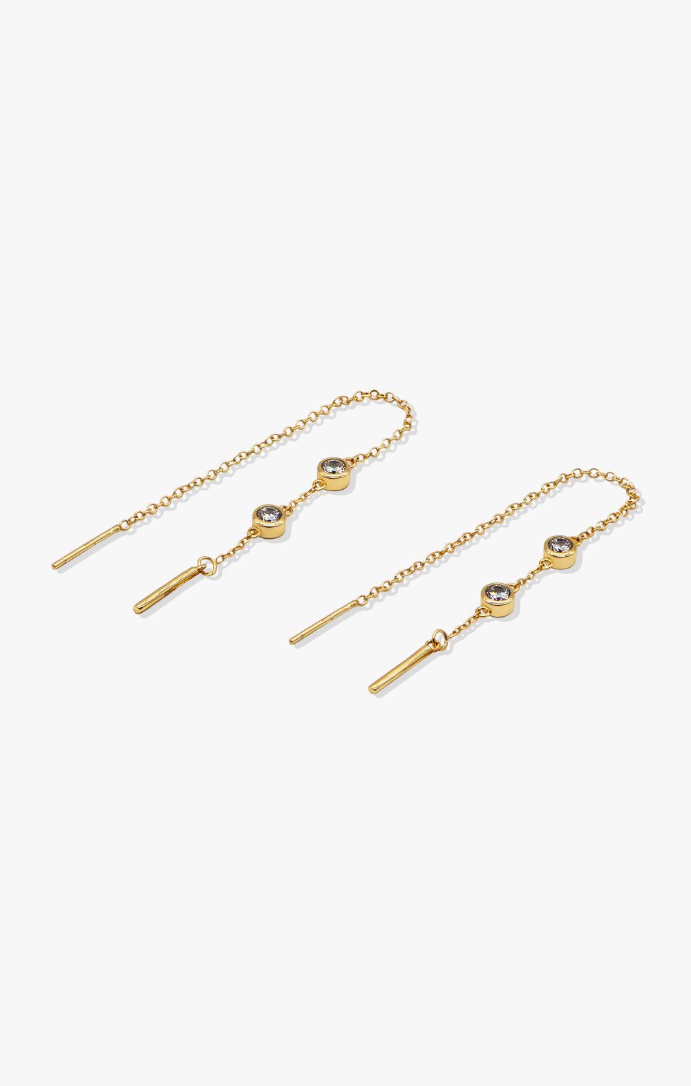 Giselle CZ Ear Threader | 18k Gold Vermeil