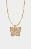 Petite Wings - CZ Butterfly Necklace
