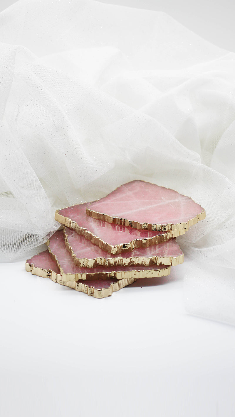 Rose Quartz - Jewelry Coaster (Single Coaster)