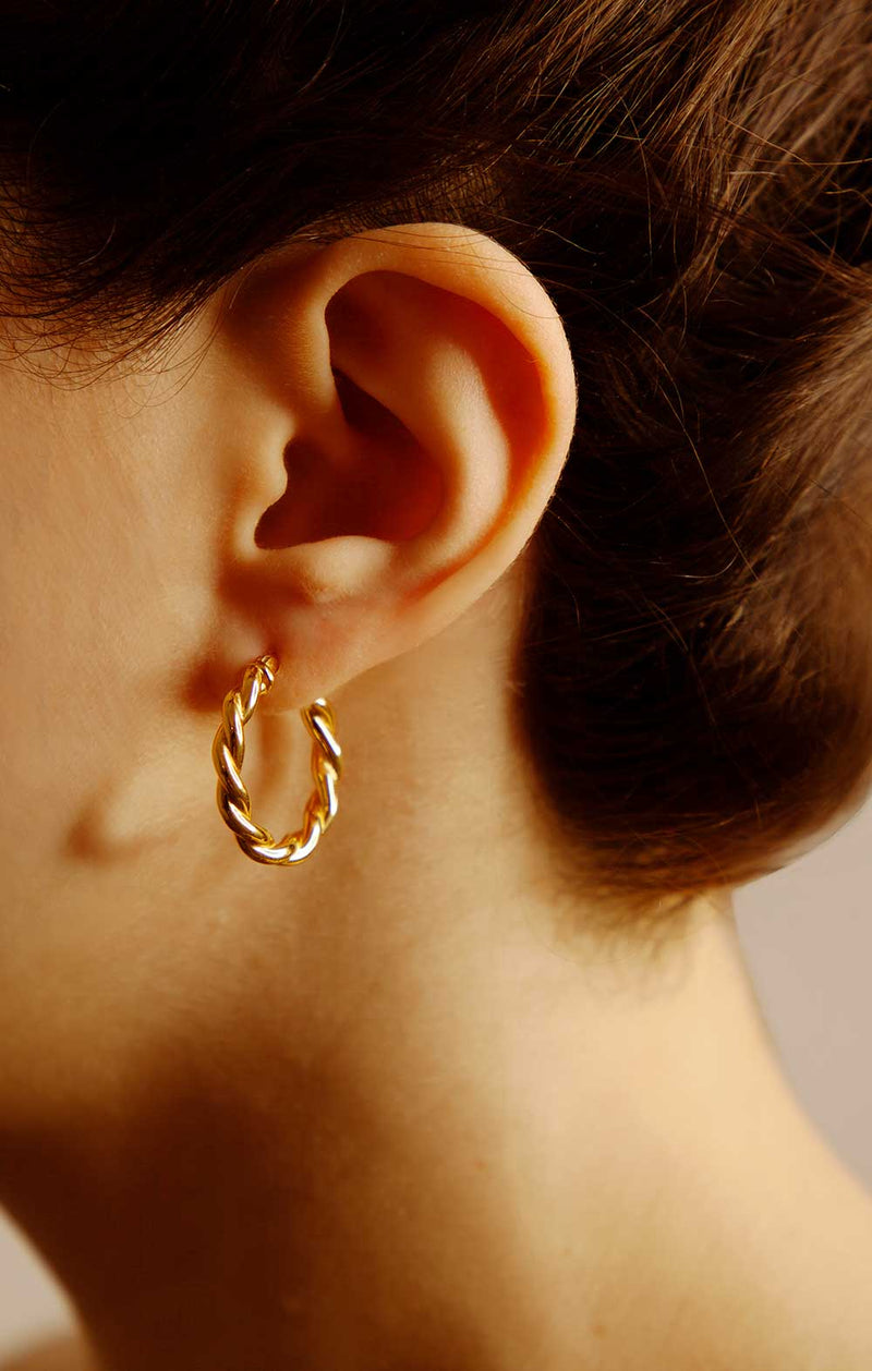 [PRE-ORDER] Sicily Twisted Hoop Earrings - Ships June 29th