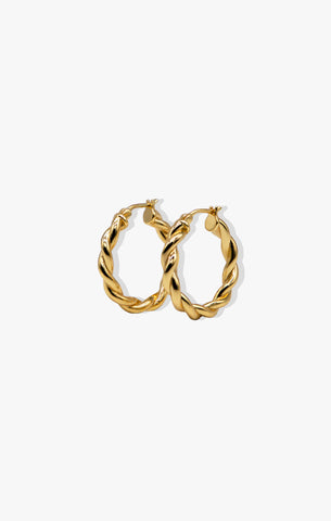 Midnight in Paris Thin CZ Hoop  | 18k Gold Vermeil