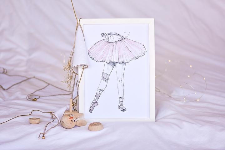 Tendu Ballet Print - Little Oak + Co
