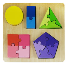 Jigsaw Shape Fraction Puzzle - Little Oak + Co