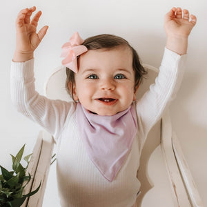 Dribble Bib - Lilac - Little Oak + Co