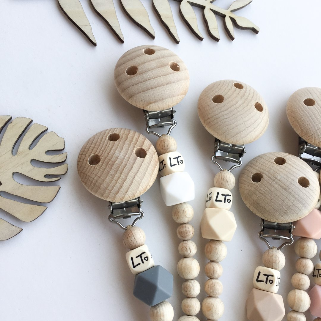 Raw Hex Soother Chains - Little Oak + Co